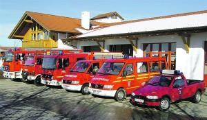 Feuerwehrfahrzeuge der Gemeinde Amerang